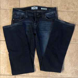 Dark wash day trip bootcut jeans